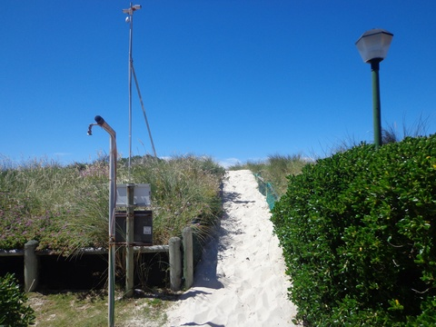 Beach path at Seaside Cottages Fish Hoek