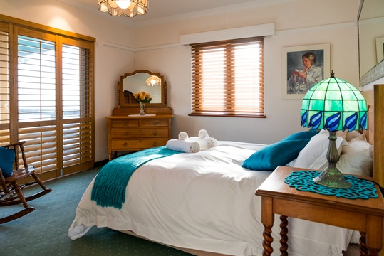 Beautiful 4 star accommodation cape town fish hoek  |  Main Bedroom at The Upper Deck Cape Town